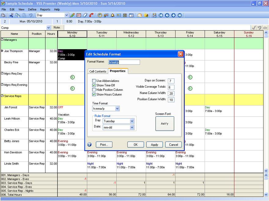 how to create an employee schedule