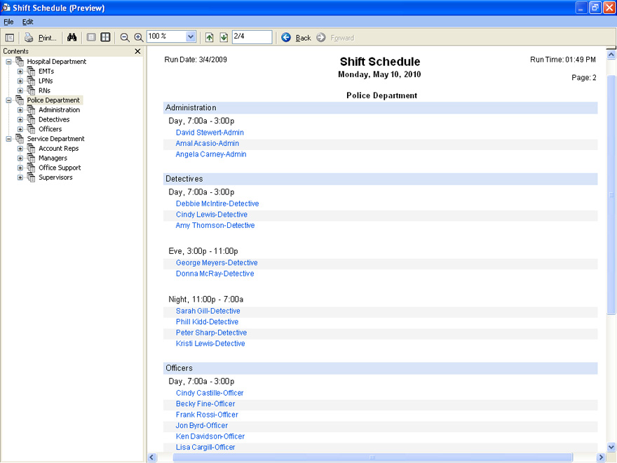 Employee Scheduling Software Shift Schedule Usa
