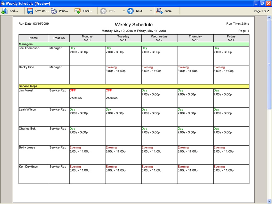Employee Scheduling Software for Retail and Hospitality