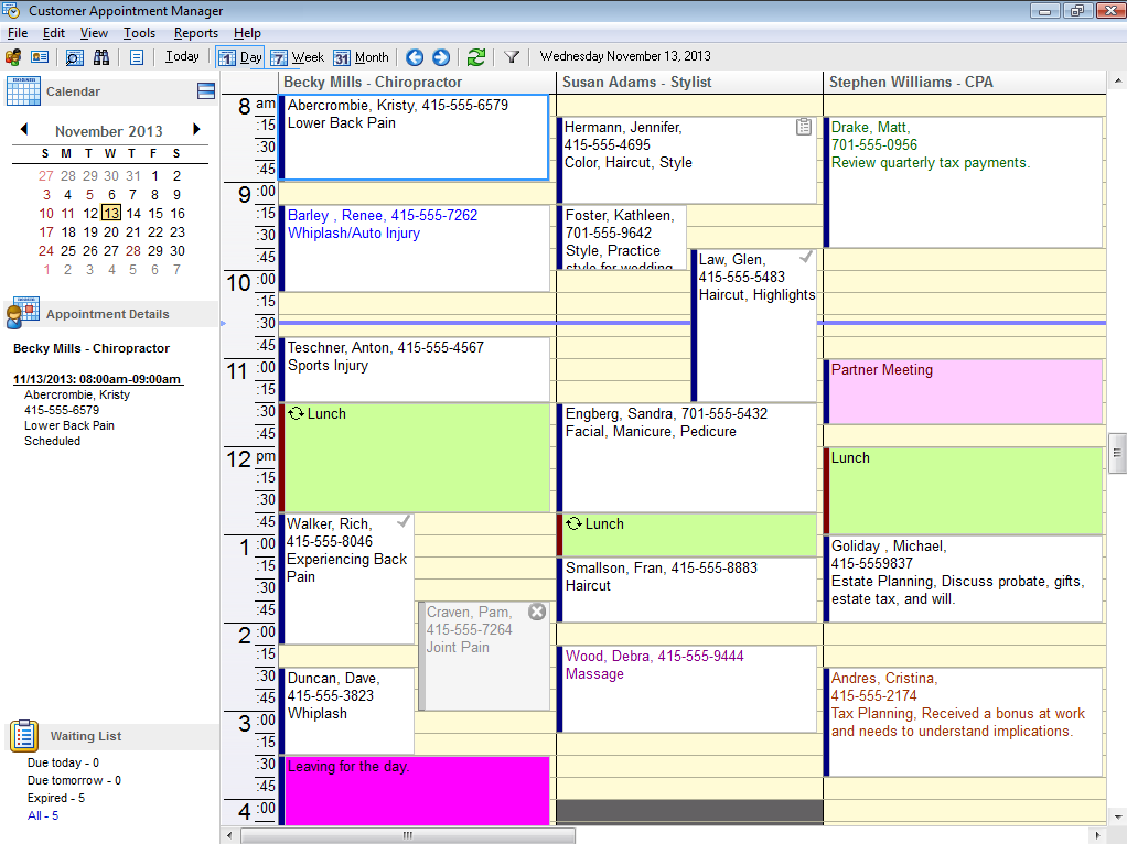 Easy-to-use appointment scheduling software.