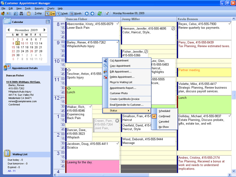 Patient Appointment Manager Scheduling Software Features