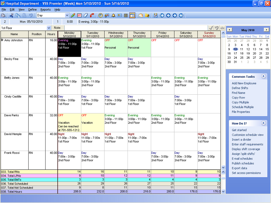 VSS Pro scheduling software helps ensure shift coverage and reduce overtime