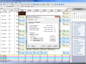 Edit Schedule Format in Employee Scheduling Software