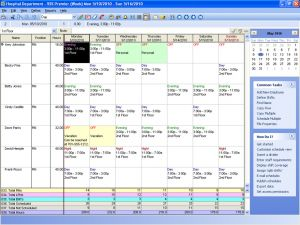Sample Weekly Schedule View in Employee Scheduling Software