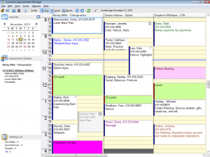 Daily View in Patient Appointment Scheduling Software